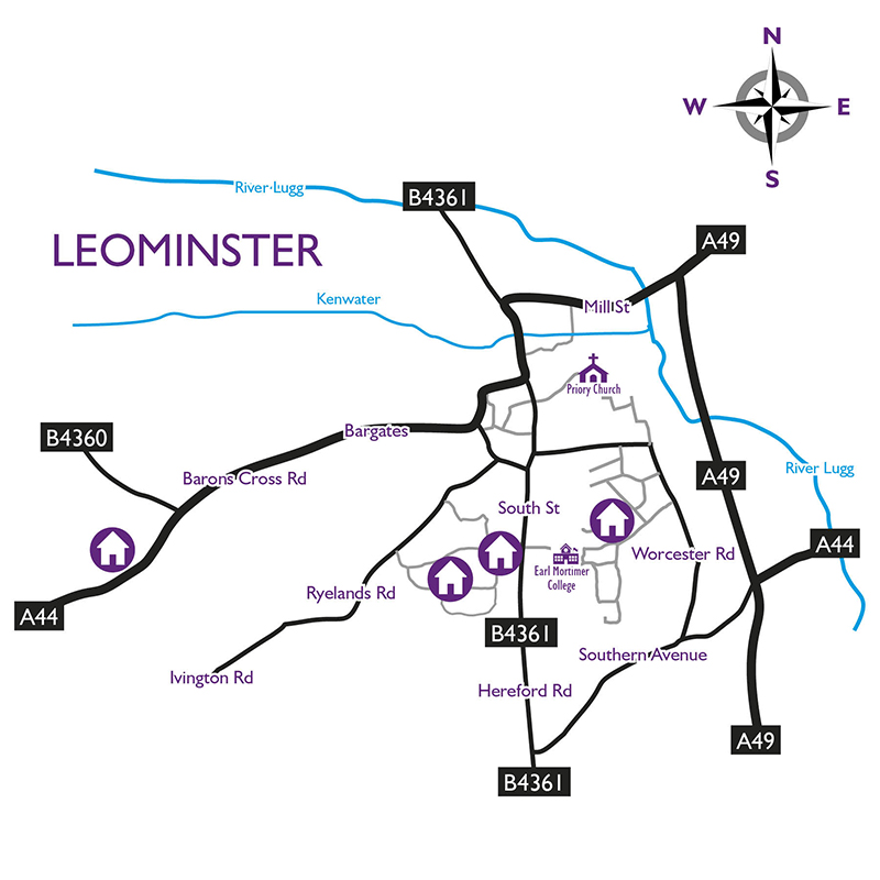 Map of Leominster